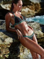 Candice Swanepoel flaunts curves in bikinis for the Victoria's Secret July 2015 Lookbook