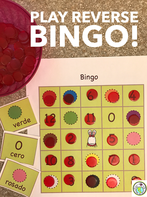 Bingo with a twist for foreign language classes