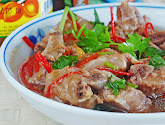 steamed pork ribs with salted plums