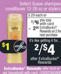 cvs Suave Shampoo-Conditioner  deal