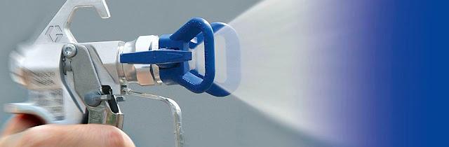 Безвоздушная окраска и штукатурка механизированным способом