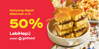 Promo diskon 50 persen GOFOOD periode Februari-Maret 2020