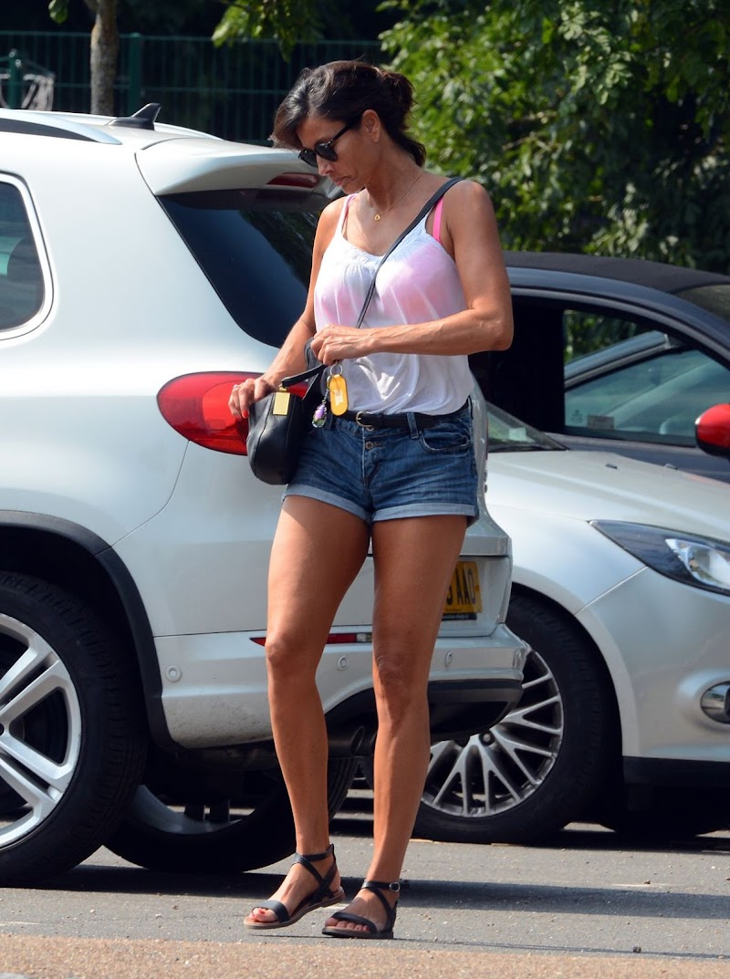 Melanie Sykes Clicked Outside in West London 13 Aug -2020