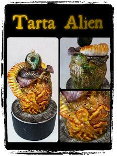 tarta alien, frikies cake, alien cake