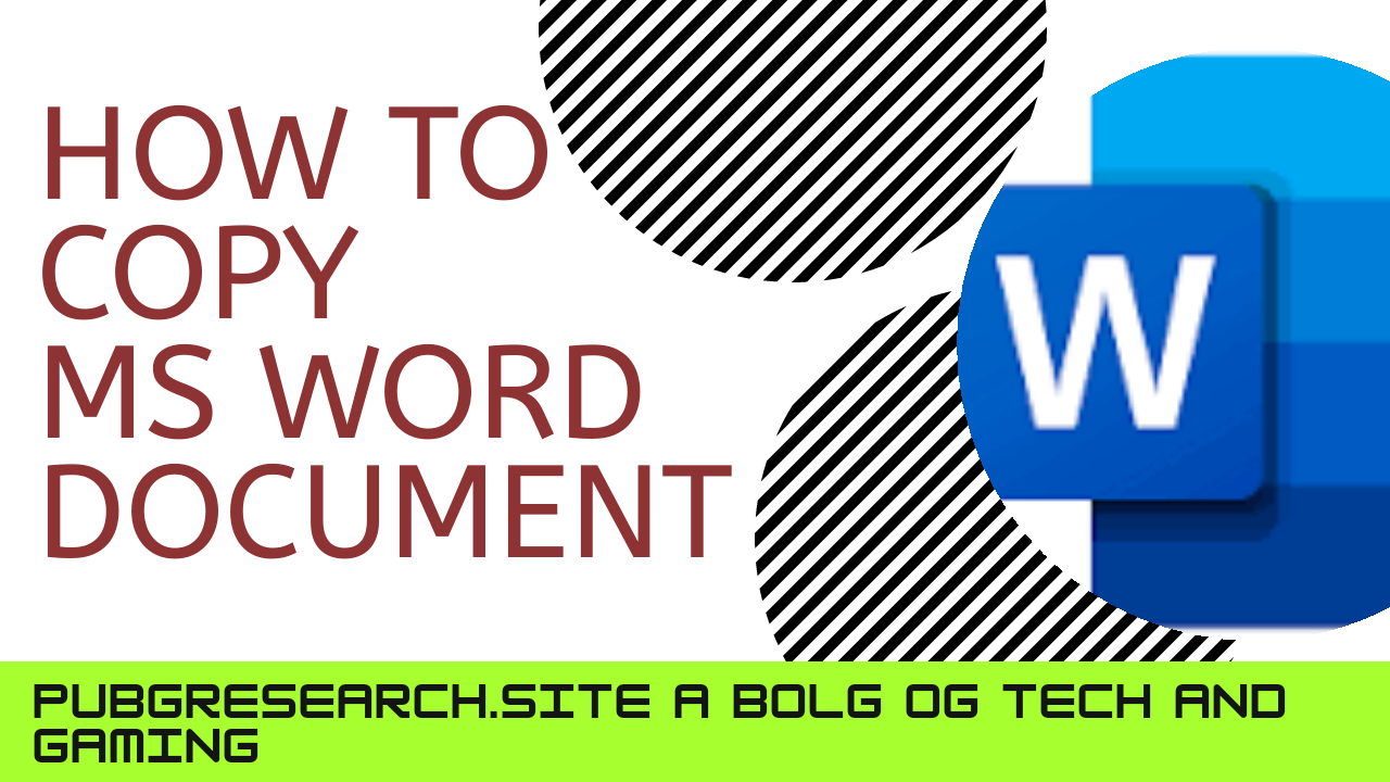 Easy way to make a copy of a MS word document