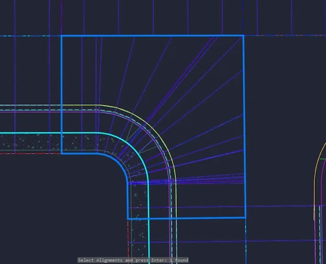 Target alignment and profiles in Civil 3D