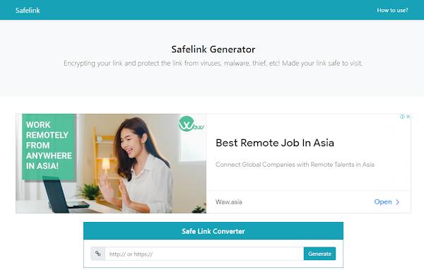 Safelink Boostrap v2 Blogger Template