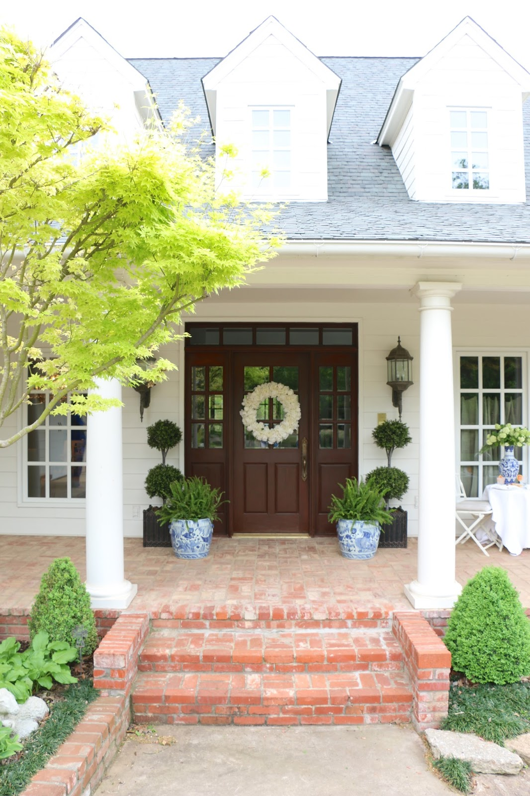 Porch Steps: Eleven Gables: Eleven Gables Before And After Home Tour