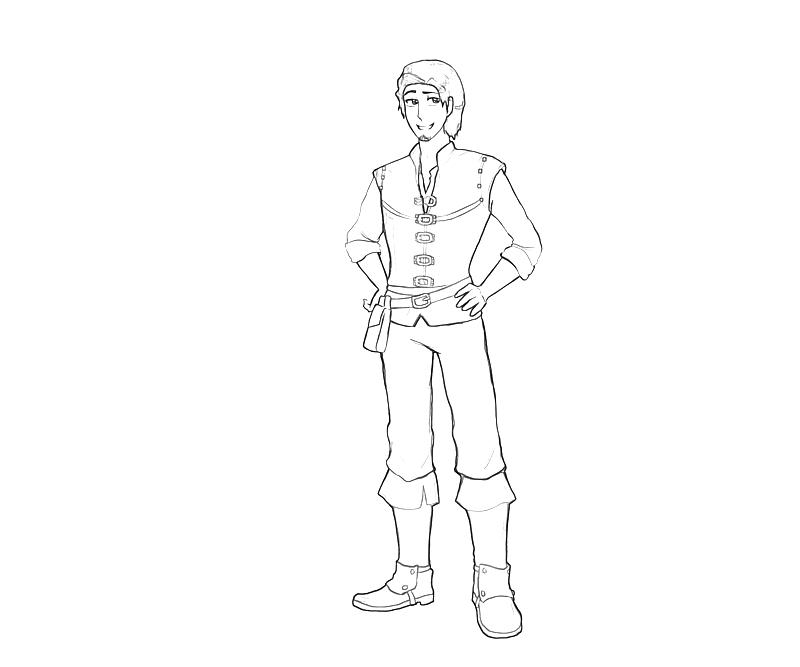Flynn Rider - Free Coloring Pages