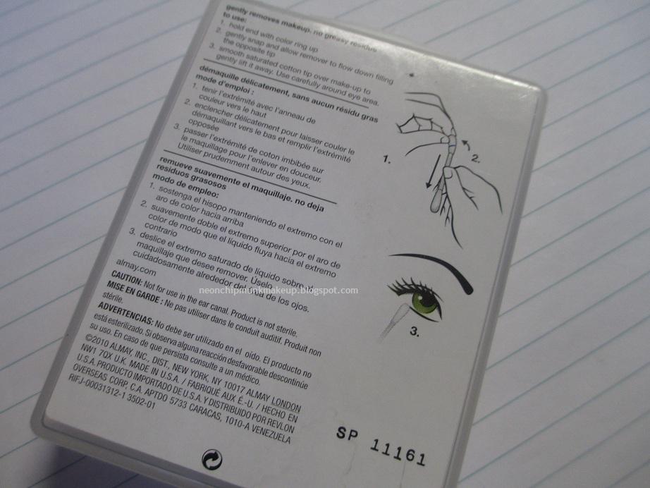 Almay Oil Free Makeup Eraser Sticks Review Neon Chipmunk