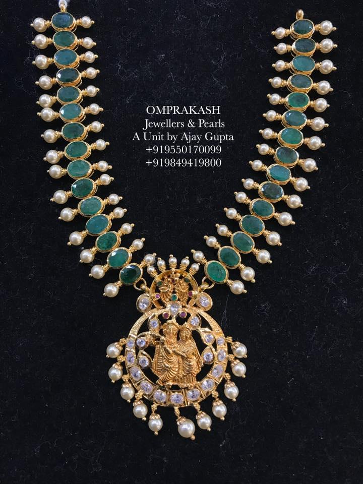 a0e32b953 Ruby Emerald Set by Omprakash Jewellers - Jewellery Designs