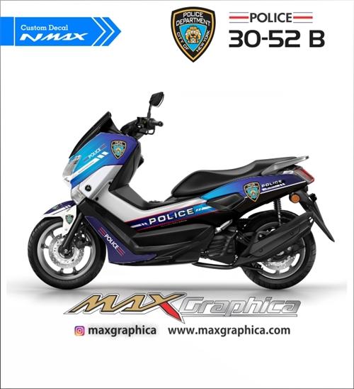 custom sticker decal yamaha nmax police fullbody