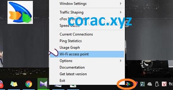 Phát Wifi bằng CfosSpeed