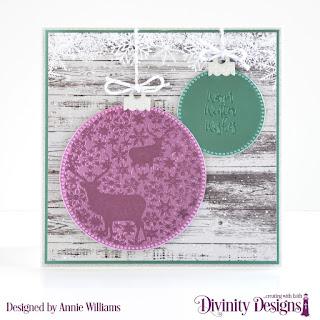 Stamp/Die Duos: Deer Ornament, Custom Dies: Pierced Circles, Paper Collection: Rustic Christmas
