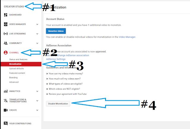 disable-youtube-monitization