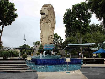 Patung Merlion di Sentosa Island