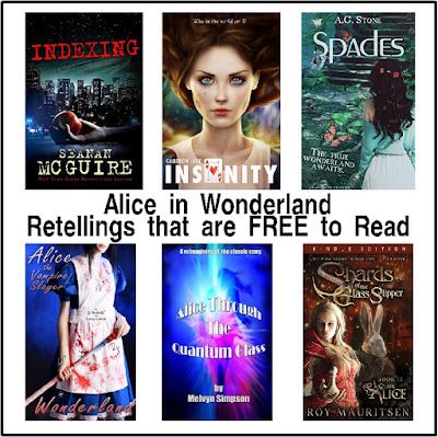 If you love Alice in Wonderland, then a good retelling will be a great way to spend the afternoon.  Here's 12 retellings of Wonderland stories that are all free to read if you are an Amazon Kindle Unlimited Reader.