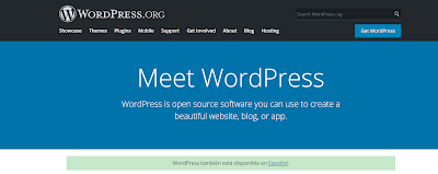 this is the attractive but simple dashboard of wordpress.org containing blue and black colors.