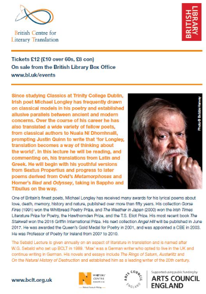 essays on michael longley Sidelines provides a generous selection of michael longley's  book reviews –  many from the irish times – short essays, introductions to his.