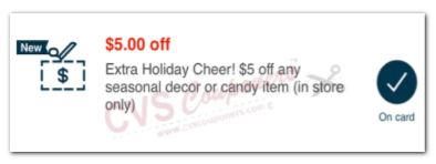 LOAD $5.00 Off Seasonal Decor or Candy Item CVS APP ONLY MFR Coupon (go to CVS App)