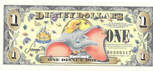 Dumbo Disney Dollar Disneyland 50th Anniversary