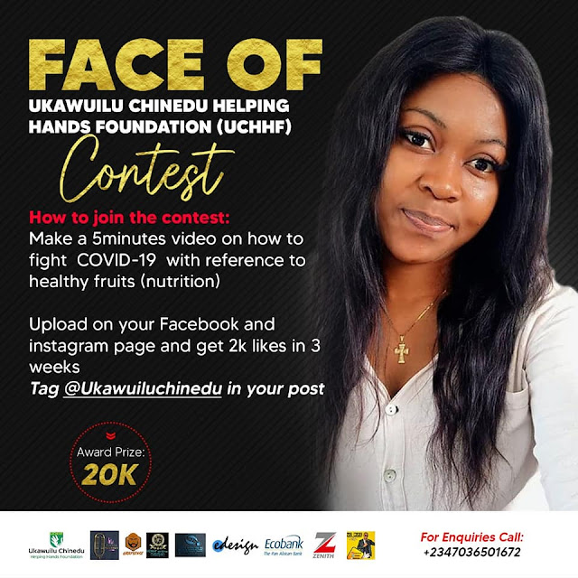 Ukawuilu Chinedu Empowers Young Women as Winner Emerges from Face of UCHHF COVID-19 Challenge.