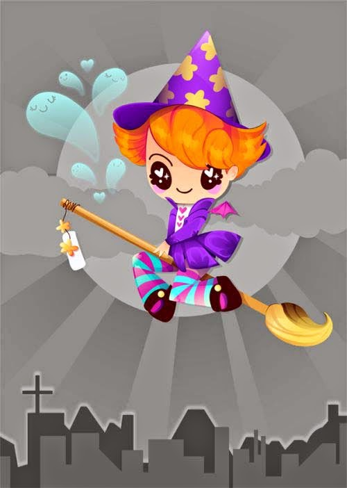 Create a Colorful, 1940s-Inspired Witch in Adobe Illustrator