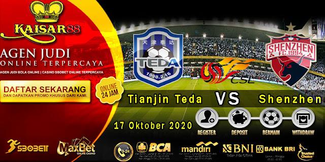 Prediksi Bola Terpercaya Liga China Super Tianjin Teda vs Shenzhen 16 September 2020