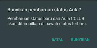 Mengembalikan Status Whatsapp Teman Yang Hilang (Dibisukan)