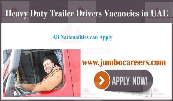 Current Driver jobs in UAE, New JObs in UAE,
