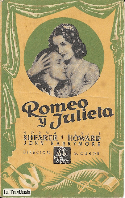 Programa de Cine - Romeo y Julieta - Norma Shearer - Leslie Howard