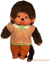 Monchhichi Orange Stripe Boy 220960