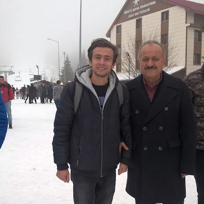 Harun İstenci Kastamonu Belediye Başkanı Tahsin Babaş ile birlikte Ilgaz Kayak Merkezinde...