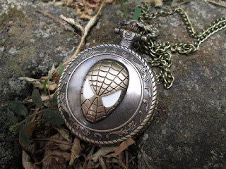 Spiderman Pocket Watch With Necklace Chain P21
