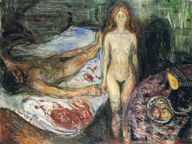 Эдвард Мунк - Смерть Марата. 1907