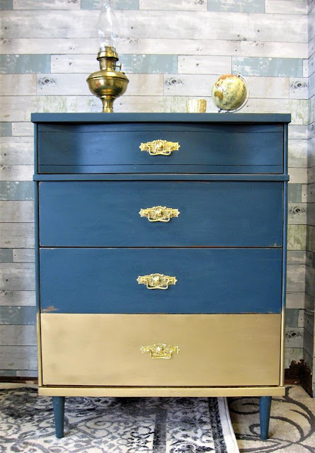 dresser with brass bail pulls