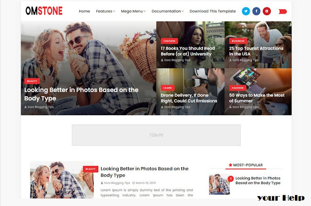 OmStones Blogger Responsive Template, Top 10 Responsive Blogger Template, Best Blogger Template 2021, Adsense Approval responsive Blogger template, 2021 Best Blogger Template