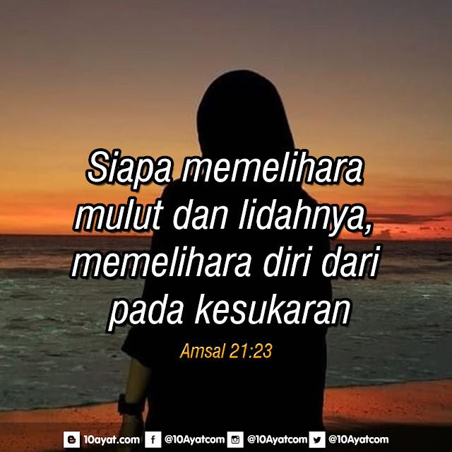 Amsal 21:23
