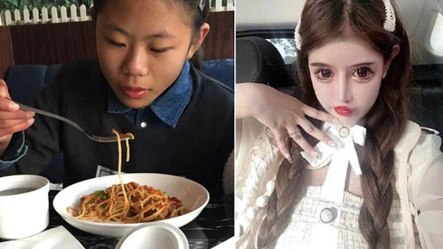 Китайская школьница перенесла около ста операций ради кукольного лица