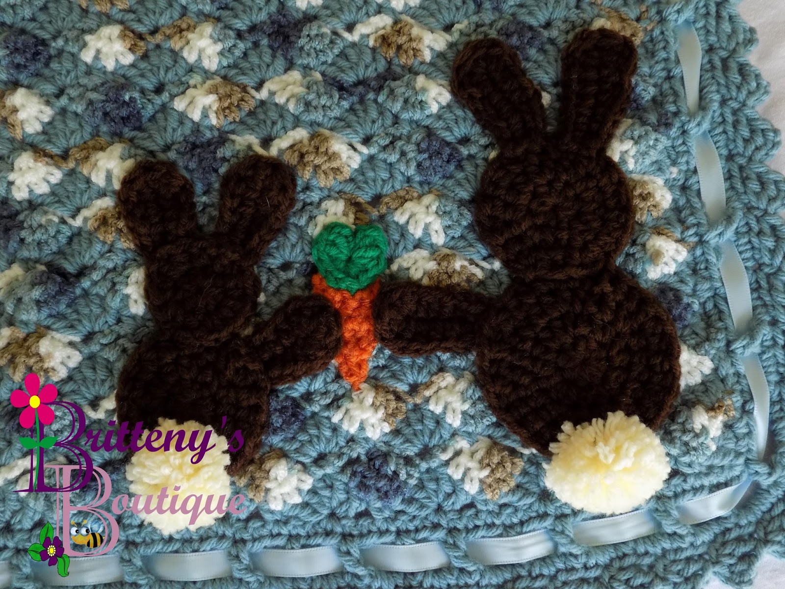 Britteny Off The Hook Some Bunny Loves You Baby Blanket Crochet