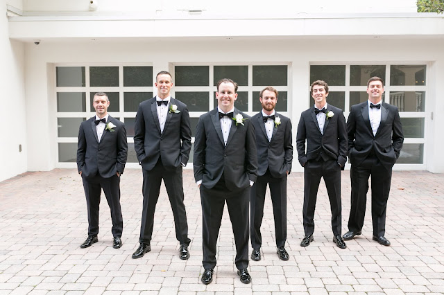 sharp dressed groom and groomsmen