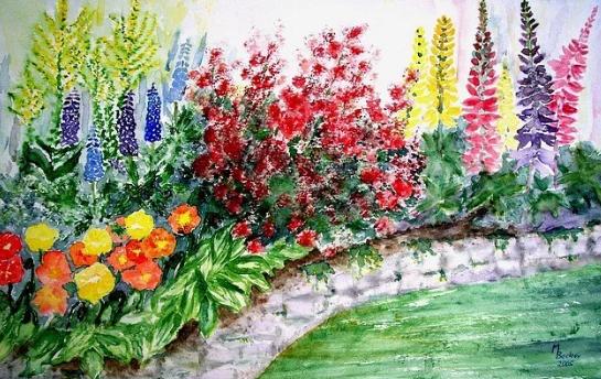 Berbagai Macam Lukisan Contoh Gambar Lukisan Bunga Sederhana Yg