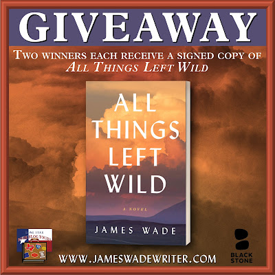 All Things Left Wild tour giveaway graphic. Prizes to be awarded precede this image in the post text.