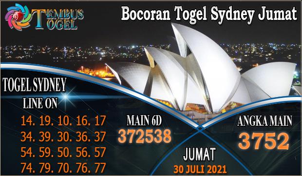 Bocoran Togel Sydney Jumat Tanggal 30 Juli 2021