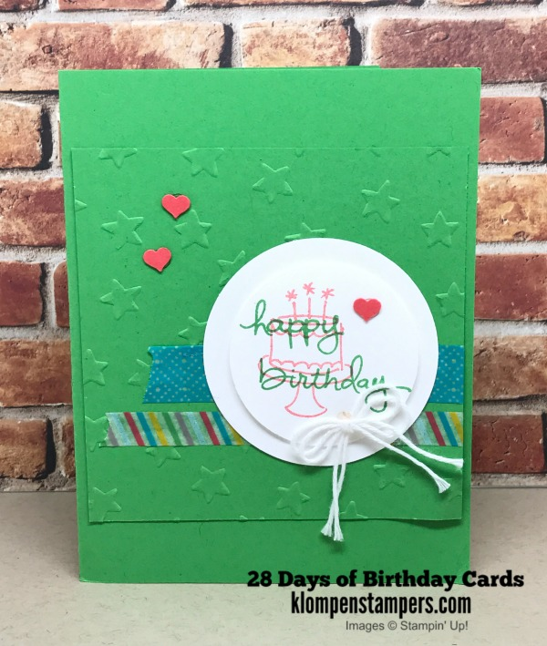 28 Days Of Birthday Cards Day 6 Klompen Stampers