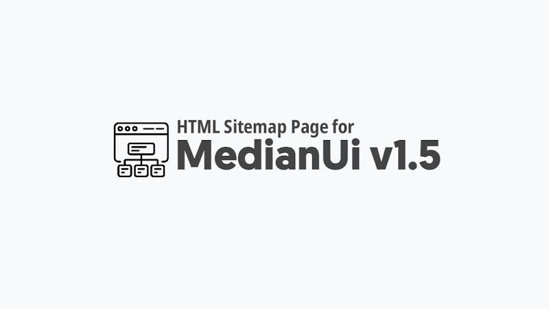 How to create HTML Sitemap for Median Ui Template