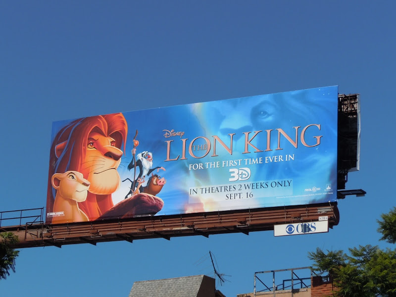 Disney Lion King 3D billboard