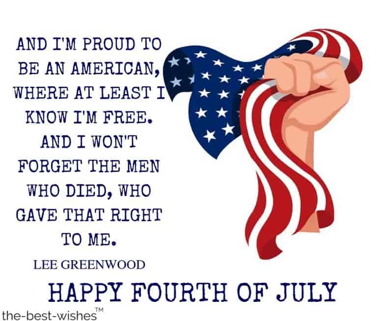 historical fouth of july quotes by lee greenwood