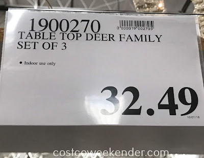 Deal for a set of 3 Table Top Decorative Deer Family at Costco