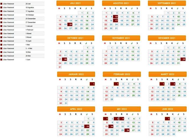 Terbaru Kalender Pendidikan Tahun Pelajaran 2021/2022 Provinsi Bengkulu